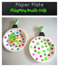 paper plate christmas ornament. could be a counting activity (roll dice and have kids bingo marker the number from dice.)