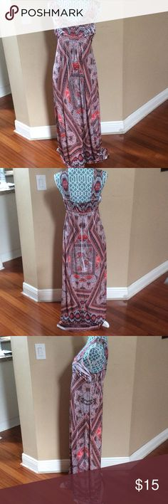 ⚡️Apt.9 Multicolored Maxi dress⚡️ Apt.9 multicolored maxi dress in a size small! In great condition only worn a few times. Apt. 9 Dresses Maxi