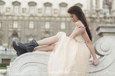 Photography: Sarah Bel www.sarahbel.com  wedding dress shoes peach pink boots Pink Boots, Dress Shoes, Peach, Portraits, Wedding Dresses, Photography, Fashion, Formal Shoes, Bridal Dresses