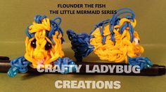 Rainbow Loom Charm FLOUNDER or FISH How to Make by Crafty Ladybug