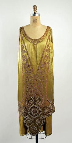 Evening dress, Callot Soeurs (French, active 1895–1937); Date: 1925–26; Culture: French; Medium: silk | The Metropolitan Museum of Art