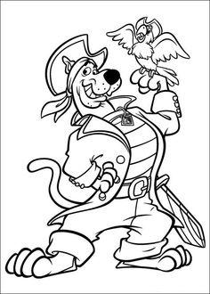 Coloriage Dessins. Dessins à imprimer et la couleur en ligne. Scooby Doo 5