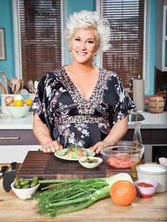 All About Anne Burrell : Pictures : Chefs : Food Network . worst cooks in america pancake recipe Food Network Star, Food Network Recipes, Chef Anne Burrell, Chef Recipes, Cooking Recipes, Worst Cooks In America, Culinary Chef, Chef Cookbook, Tv Chefs