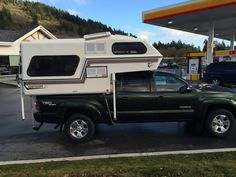 Not camping per say, but ready to roll with my new camper. Going to head out this weekend for a little cold camping and stay nice and warm in my camper. Small Truck Camper, Slide In Truck Campers, Small Trucks, Truck Camping, Camping Photo, Toyota Hilux, Polar Bear, Offroad, Recreational Vehicles