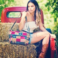@Bella Taylor Hitch a ride with us! #bellataylor #handbags #country #cowgirl #ombre #hayride #summer #fashion