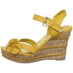 Wanted's yellow wedge heels.