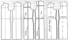 ATELIER CORTE E COSTURA workshops and short seam, that is what it means in Italian,  as you can see from visual the pattern has been shortened in length and width.   I would call it altering by grading to smaller size.