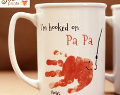 Your child's footprints Perfect Grandpa and by MyForeverPrints