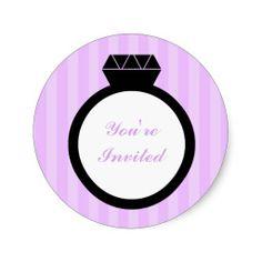 Engagement Ring Wedding Seals Sticker