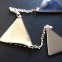 New Item! 5 Triangle Connection Necklace.  Sterling Silver #necklace that #givesback - www.LittleGemsUSA.com