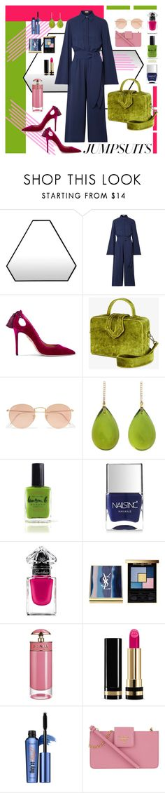 """Jumpsuits"" by brigitta-ruth on Polyvore featuring Novel Cabinet Makers, Michael Kors, Aquazzura, Mehry Mu, Ray-Ban, Michael Kanners, Lauren B. Beauty, Nails Inc., Guerlain and Yves Saint Laurent"