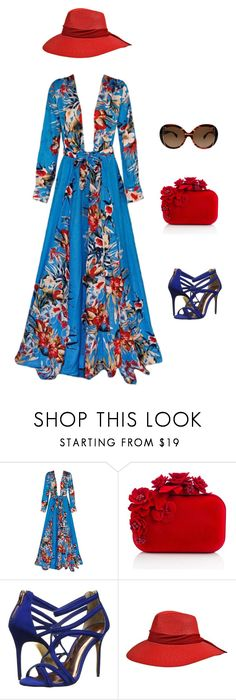"""Kimono Dress"" by amparo-calbacho on Polyvore featuring moda, Jimmy Choo, Ted Baker y Emilio Pucci"