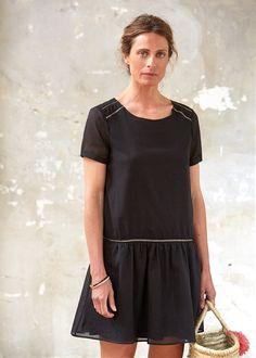 Robe Melba // Capsule de juin www.sezane.com Inspiration trop-top femme, version B rallongé par un volant