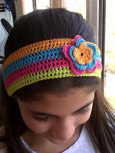 diademas tejidas a crochet - Buscar con Google Crochet Baby Hats, Knit Or Crochet, Mittens, Crochet Projects, Headbands, My Design, Knitting, Spring, Crocheting