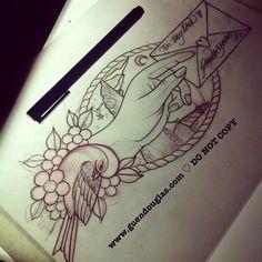Neo traditional hummingbird tattoo flash   Tattoos ...