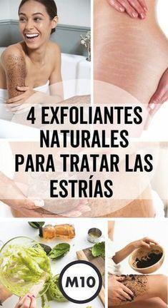 Exfoliantes naturales contra estrías