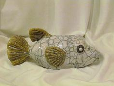 sculpture raku poisson coffre animaux céramique grès Danièle Meyer