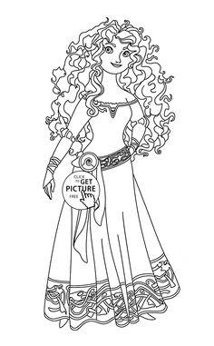 Brave Merida Coloring Page For Kids Disney Princess Pages Printables Free