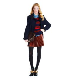 The peacoat an outerwear crowd pleaser, meaning it goes with everything. Since the piece itself is a bit understated, add interest to your l...