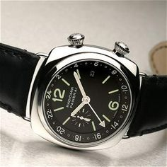 Panerai Radiomir Steel, black dial, GMT function, PAM 184