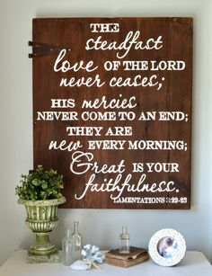 """The steadfast love of the Lord"" Wood Sign"