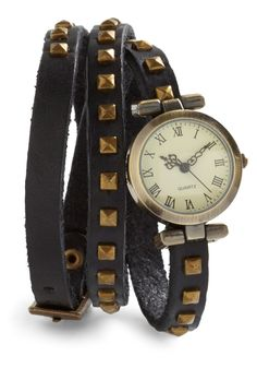 Stud-y Abroad Watch - Black, Solid, Studs, Urban.  only $39.99 So Cute!