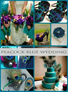 Here you will find gorgeous peacock blue teal tones inspiration and ideas! #peacock #teal #wedding