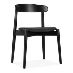 Cult Design Concept Dining Chair, Solid Ash Wood, Black