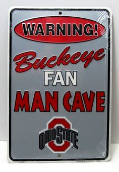 Ohio State Buckeyes Man Cave 8x12 Sign