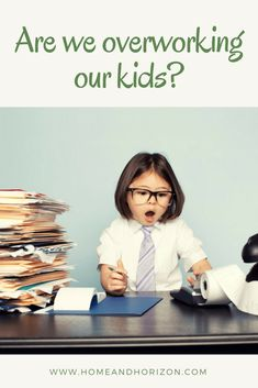 ARE WE OVERWORKING OUR KIDS? #kids