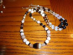 An ancient handmade stunning bead was used as a focal bead. A longer STATEMENT necklace.  Bead handiwork leads me to think this bead is OLD. - pinned by pin4etsy.com