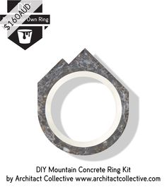 Items similar to DIY Kit Concrete Mountain Ring on Etsy Concrete Ring, Concrete Jewelry, Diy Concrete, Build Your Own Ring, Diy Rings, Architect Design, Kit, Mountain, Unique Jewelry
