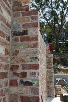 A current project in the Lower Blue Mountains that is using a mix of recycled red clay bricks with small traces of graffiti on some of the brick faces. We are very happy with the bricks provided by The Brick Recyclers. Red Clay Bricks, Red Brick Fireplaces, Brick Face, Provence Style, Brick And Mortar, Brick Patterns, Blue Mountain, Graffiti, Faces