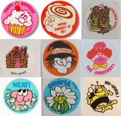 80's Scratch 'N Sniff stickers