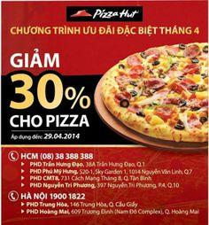 Khuyến mãi Pizza Hut giảm giá 30% trong tháng 4-2014 | ghienkhuyenmai