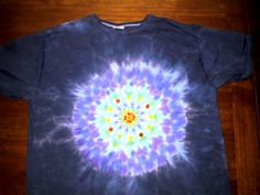 picture of a mandala dyed t-shirt. Tips and how-to's are here