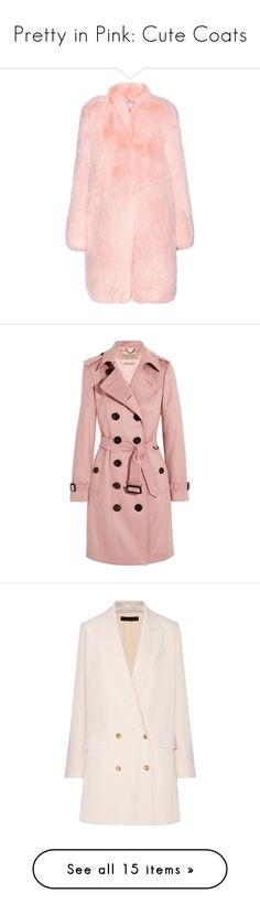"""""""Pretty in Pink: Cute Coats"""" by polyvore-editorial ❤ liked on Polyvore featuring pinkcoats, outerwear, coats, jackets, fur, pink, fox fur coat, light pink coat, pink coat and altuzarra"""