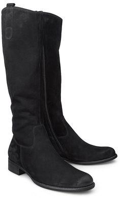 Mit diesem klassischen Stiefel von Gabor ist eine optimale Passform garantiert. Aus weichem Nubukleder in Schwarz und mit einem innenliegenden Reißverschluss.