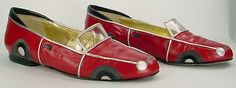 """vintage zalo """"red car"""" shoes"""