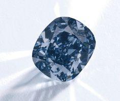 The Blue Moon Diamond - An exceptional Fancy Vivid Blue diamond ring