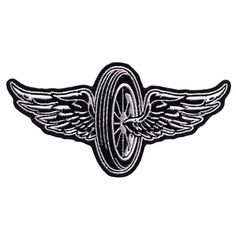 Hot Leathers Flying Wheel Embroidered Patch | 725-098 | J&P Cycles
