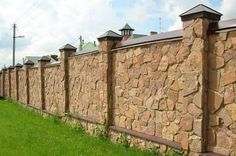 8 Simple and Stylish Ideas Can Change Your Life: Glass Fence Iron Gates concrete fence curb appeal.Fence Ideas For Kids. Brick Fence, Concrete Fence, Front Yard Fence, Farm Fence, Bamboo Fence, Cedar Fence, Fenced In Yard, Fence Stain, Fence Landscaping