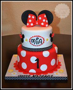 Red Minnie Cake by yummytreatsbyyane