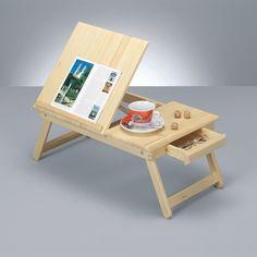 Zeller 24041 Vassoio da letto con supporto di lettura in pino, 62,5 x 325 x 23.