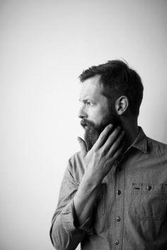 Contemplating his #BEARD. #beards #blackandwhite