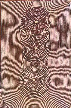 untitled work by Pantjiya Nungurrayi, Australian Aborigine (ymutate)