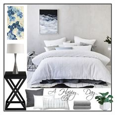 """""""A Happy Day"""" by loveartrecyclekardstock ❤ liked on Polyvore featuring interior, interiors, interior design, home, home decor, interior decorating, Ethan Allen, Leftbank Art, Benson-Cobb Studios and Blu Dot"""