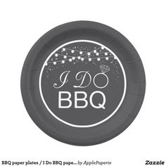BBQ paper plates / I Do BBQ paper plates  sc 1 st  Pinterest & Rustic Burlap Party Paper Plates In Any Color | Burlap party Burlap ...