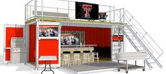 Shipping Container Tailgate Party Is the Pinnacle of Pop-Up Design