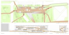 Image 11 of 25 from gallery of Helsinki Central Library Competition Entry / STL Architects. site plan and section
